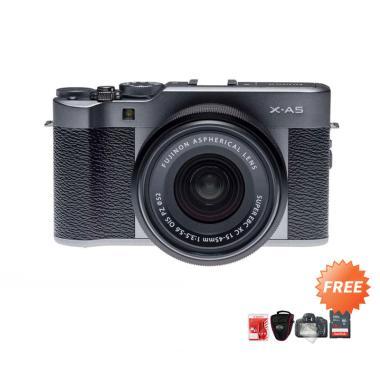 harga Fujifilm X-A5 Kit Lens 15-45mm F/3.5-5.6 OIS PZ Kamera Mirrorless + Free ScreenGuard + Cleaning Kit + Tas Kamera + Memori 16GB Dark Silver Blibli.com