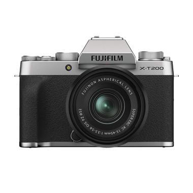 harga FUJIFILM X-T200 Kit XC 15-45mm F3.5-5.6 OIS PZ Kamera Mirrorless Silver Blibli.com
