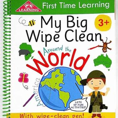 harga Actech Solution First Time Learning My Big Wipe Clean Around The World Buku Impor Anak Blibli.com