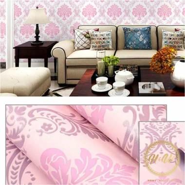 wallpaper bagus wallpaper bagus motif batik wallpaper dinding   pink full01 gsodok82
