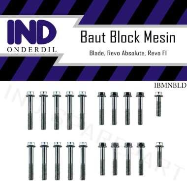 harga IND Onderdil Baut Blok Mesin Crank Case Kiri & Kanan Motor for Honda Blade Old Blibli.com