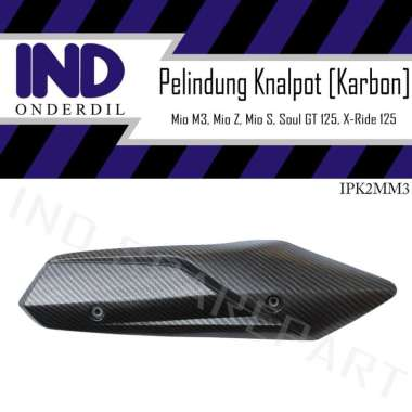 harga IND Onderdil Cover Carbon Tutup Pelindung Knalpot Motor for Yamaha X Ride or Soul GT New 125 BLACK CARBON Blibli.com