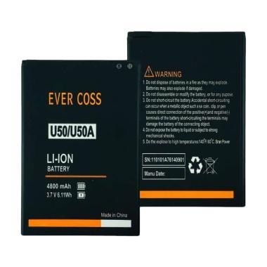 harga Evercoss Baterai Handphone for Winner Y Smart U50 / Star U50A / Silver A75 Max [4800 mAh] Blibli.com