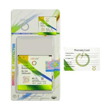 harga OFFON BL194 Baterai Handphone for Lenovo A288/A360/A370/A520/A690/A729/A780/A870e Blibli.com
