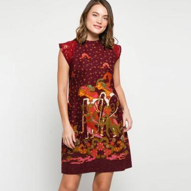 Andelly Batik 02 02 Dress Panjang Wanita