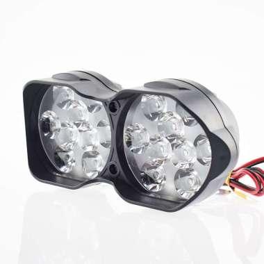 harga Lampu Tembak Motor ATV LED Spotlight 18 LED - U9 - Black Black Blibli.com