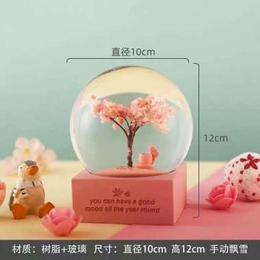 harga SPRING SNOW BALL MUSIC BOX - Kotak Musik Musim Semi dan Gugur warna Pink 023 Pink Blibli.com