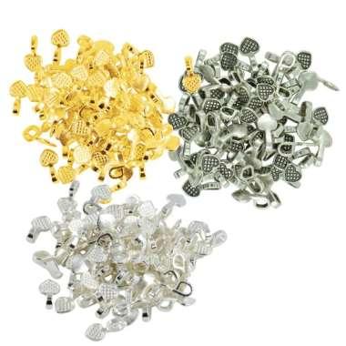harga 300pcs 16x8mm Glue on Bail for Earring Bails Base Pendant Connector Beads Blibli.com