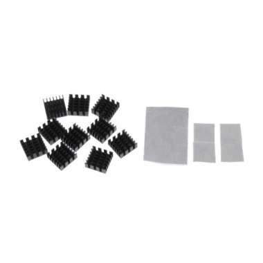 harga 10pcs Aluminum LED/CPU/IC Chip Heat Sink Cooling Fin Radiator Pad 14x14x6mm - Blibli.com