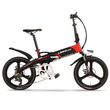 harga Lankeleisi Sepeda Elektrik Lipat Luxury Editon G660 Hitam Merah Blibli.com