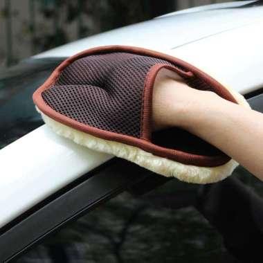 harga Sarung Tangan Kain Lap Mobil Waxing Gloves Wool Hitam Blibli.com