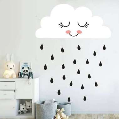 oem wall stiker stiker dinding stiker kamar anak awan hujan full01 daejmz42