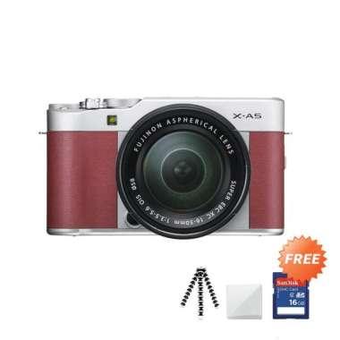 harga Fujifilm X-A5 Kit 15-45mm f/3.5-5.6 OIS PZ Kamera Mirrorless + Free Gorillapod / Mini Tripod + Screenguard + SDHC 16GB Pink Blibli.com
