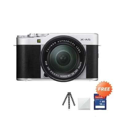 harga Fujifilm X-A5 Kit 15-45mm f/3.5-5.6 OIS PZ Kamera Mirrorless + Free Gorillapod / Mini Tripod + Screenguard + SDHC 16GB Silver Blibli.com