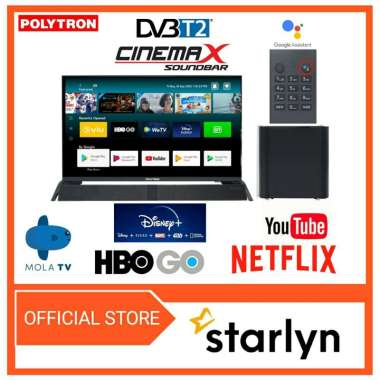 harga POLYTRON Smart Android Digital Mola TV 32inch Soundbar PLD 32BAG9953 - HITAM - Blibli.com