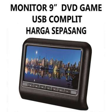 harga Monitor TV Headrest 9 INCH Clip On Mobil with DVD Player GAME USB Blibli.com