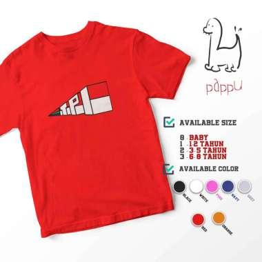 harga C/61 Kaos Anak TV Jadul TPI Televisi Pendidikan Indonesia Kids T-shirt 1 Merah Blibli.com