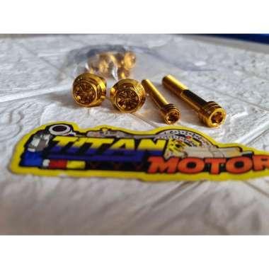 harga Baut probolt kaliper monoblok YAMAHA gold MIO SOUL BYSON RX KING jupiter z vega mx vixion j m3 dll Blibli.com