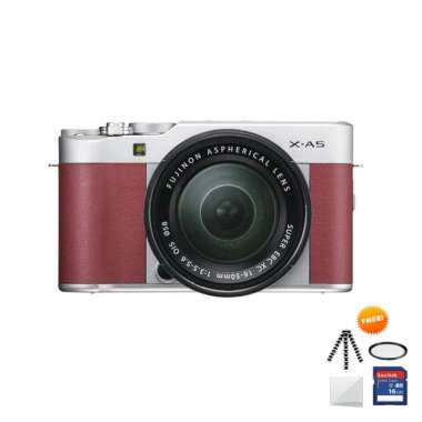 harga Fujifilm X-A5 KIT 15-45mm Kamera Mirrorless Free Screenguard + Memory SDHC 16GB+ MIni Folding/ Gorillapod+ Filter UV- Ladang Pink Muda Blibli.com
