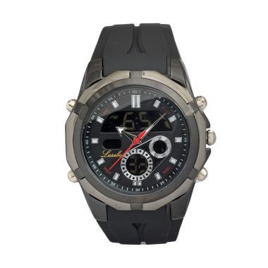 Lasebo LS809 Sporty Black Jam Tangan Pria