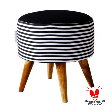 Ayoyoo Big Strip Cake Moon Stool - Black