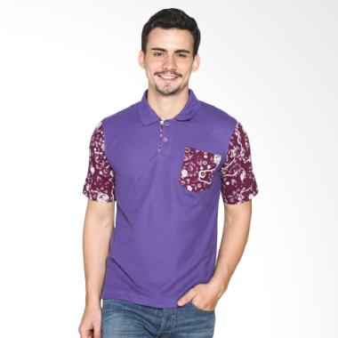 Fafa Collection 003 Boys Batik Polo Shirt - Ungu