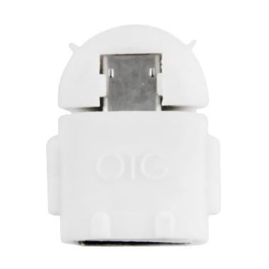 OTG Android Robot USB Adapter - White