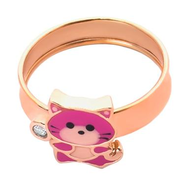 Pink Kids Gold Ring - Cincin Emas Anak Kadar 37,5