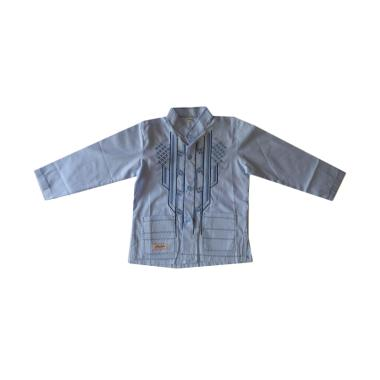 Rafifa Koko Panjang Model D Baju Koko Anak - Biru