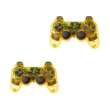Sony PlayStation 3 Stick Controller - Transparant Lampu [2 Pcs] - Yellow