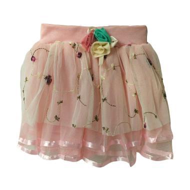 Baby Zakumi Skirt Tutu Flowers Rok Anak - Pink