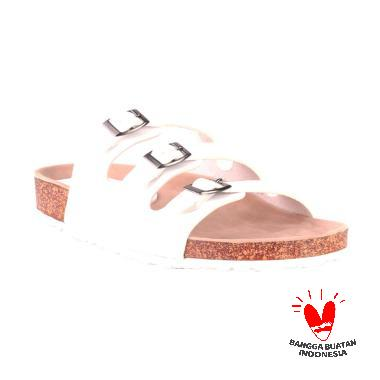 Blackkelly Mule Beltwhite LIS 721 Sandals Wanita
