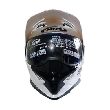 MDS Super Pro Helm Full Face - Solid White Met