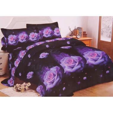 Ronaco Lady Rose Set Sprei - Purple [180 x 200 cm]