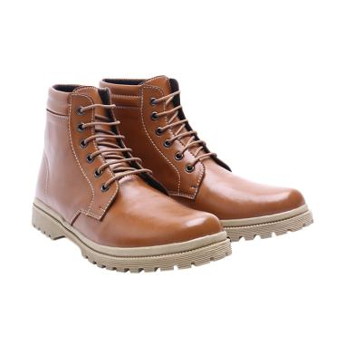 Dr.Kevin 4017 Leather Sepatu Boots Wanita - Camel