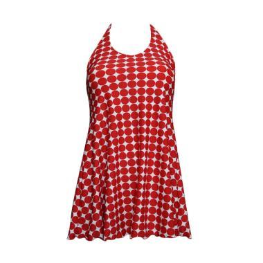 Lasona SWJ-3191-L01053 Baju Renang Rok Wanita - Merah