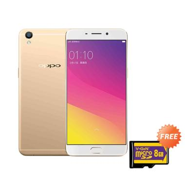 Oppo A37 Smartphone - Gold + Free Memory Card 8GB