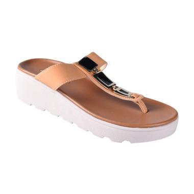 Carvil 03 Sienta Sandals Wedges Wanita - Stone