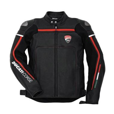 Ducati Corse C2 Leather Man Jaket Motor - Black