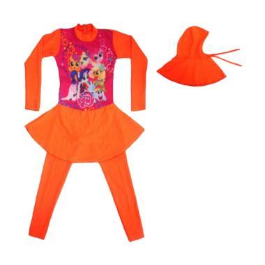 Nice Motif Pony Baju Renang Anak ABG Muslim - Orange
