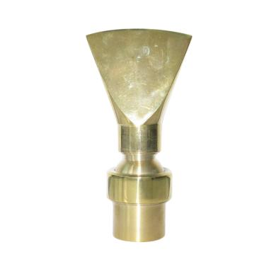 Nozzle Air Mancur Bentuk Kipas Kuningan [1 Inch]