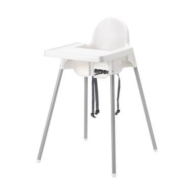 Ikea Antilop Dengan Baki Kursi Makan Anak - Putih