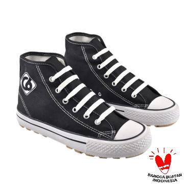 CBR Six JKC 106 Latino Canvas Sepatu Sekolah - Black White