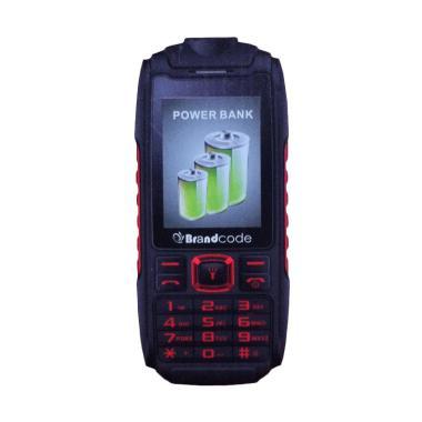 Brandcode B329 Handphone - Merah [Powerbank 5800mAh]