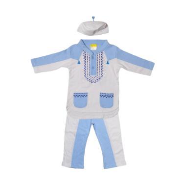 Eyka Setelan Gamis Tazel Toddler Ba ... ak Laki-laki - Blue White