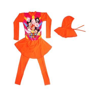 Nice Motif Tsum Baju Renang Anak ABG Muslim - Orange