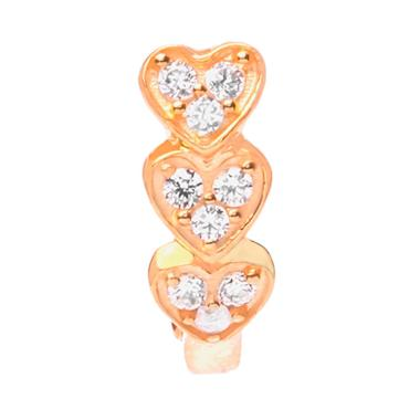 Heart Gold Earring - Anting Emas Kadar 37,5