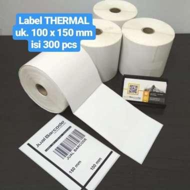 LABEL BARCODE 100 X 150 KERTAS STICKER THERMAL 100x150 mm (300 pcs) putih