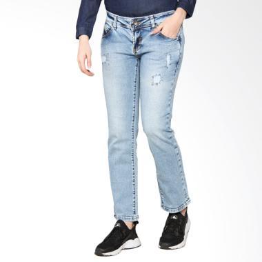 Lois Girl FT 18429 Straight Denim Fashion Pants - Blue Light Buttoms