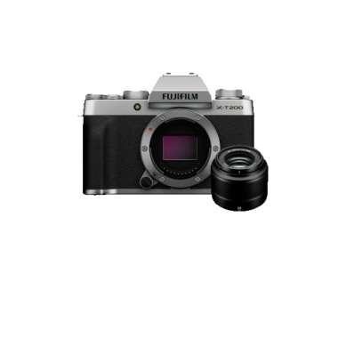 harga Fujifilm X-T200 Kamera Mirrorless [Body Only] + XC35 F2.0 Lens + Free Sandisk SDHC 16GB Silver Blibli.com